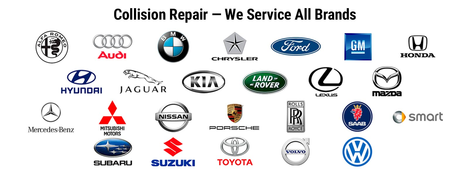 Collision Repair - We Service All Brands